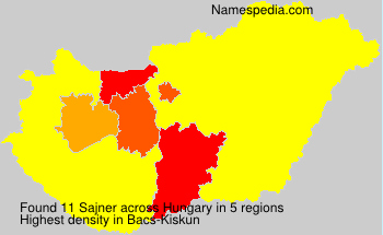 Surname Sajner in Hungary
