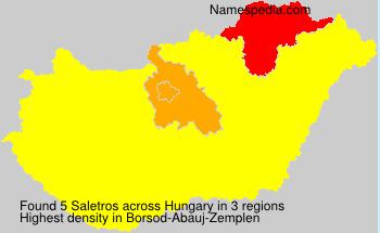 Familiennamen Saletros - Hungary