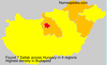 Surname Sallak in Hungary