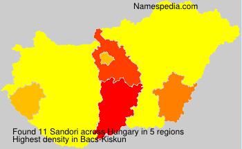 Surname Sandori in Hungary