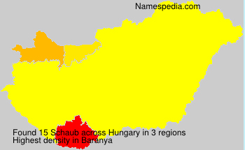 Surname Schaub in Hungary