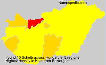 Surname Scheib in Hungary