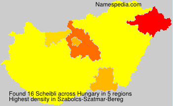 Familiennamen Scheibli - Hungary