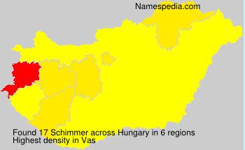 Surname Schimmer in Hungary