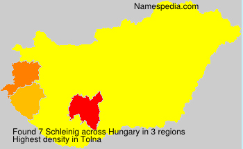 Surname Schleinig in Hungary