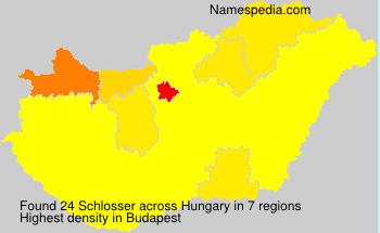Surname Schlosser in Hungary