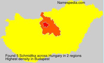 Familiennamen Schmidtka - Hungary