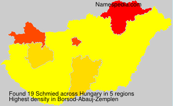Surname Schmied in Hungary