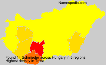 Surname Schmieder in Hungary