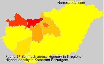 Familiennamen Schmuck - Hungary