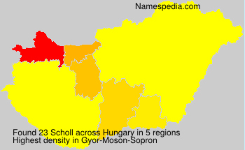 Surname Scholl in Hungary