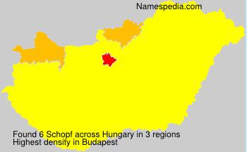 Surname Schopf in Hungary