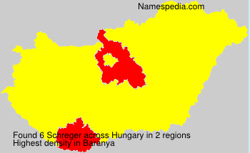 Surname Schreger in Hungary