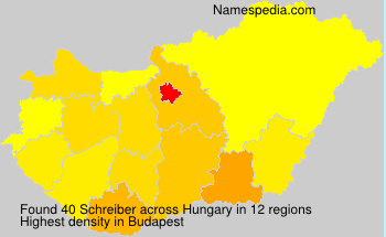 Surname Schreiber in Hungary