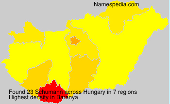 Familiennamen Schumann - Hungary