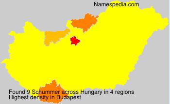 Familiennamen Schummer - Hungary