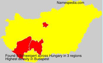 Surname Schweigert in Hungary