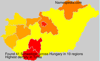 Surname Schweitzer in Hungary