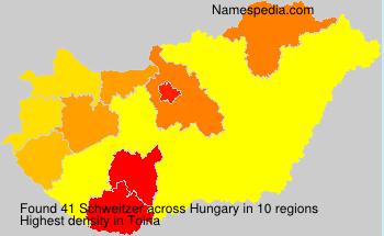 Surname Schweitzer in Hungary