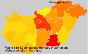 Surname Sebok in Hungary