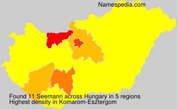 Surname Seemann in Hungary