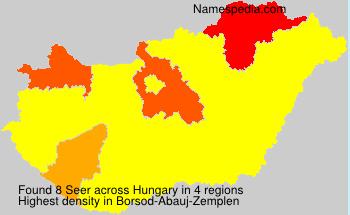 Surname Seer in Hungary