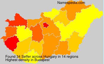 Familiennamen Seffer - Hungary