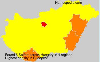 Surname Seifert in Hungary
