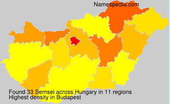 Surname Semsei in Hungary