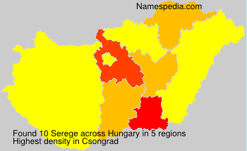 Surname Serege in Hungary