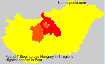 Surname Siegl in Hungary