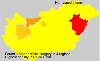 Surname Siger in Hungary