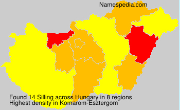 Surname Silling in Hungary