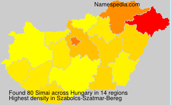 Surname Simai in Hungary