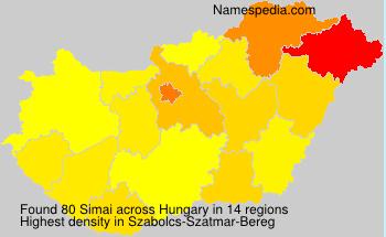 Surname Simai in Hungary