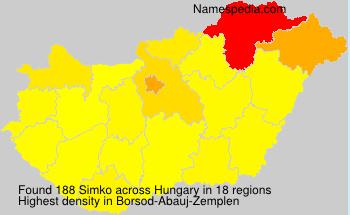 Familiennamen Simko - Hungary