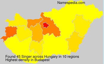 Surname Singer in Hungary