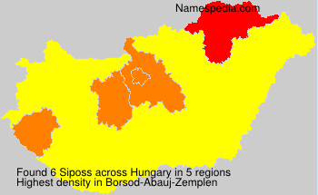 Surname Siposs in Hungary