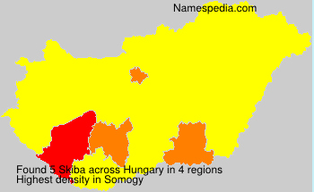 Surname Skiba in Hungary