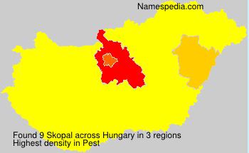 Surname Skopal in Hungary