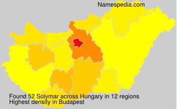 Familiennamen Solymar - Hungary