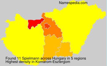Surname Spielmann in Hungary