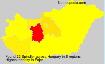 Surname Spindler in Hungary