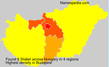 Surname Stabel in Hungary