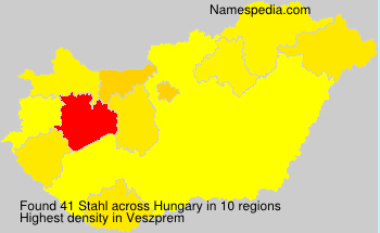 Surname Stahl in Hungary