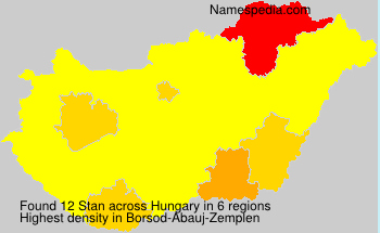 Surname Stan in Hungary