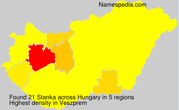 Surname Stanka in Hungary