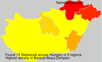 Surname Stefancsik in Hungary