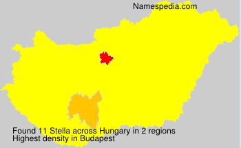 Surname Stella in Hungary