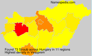 Surname Straub in Hungary